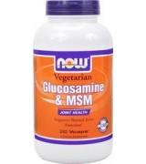 NOW Foods 葡萄糖胺+ MSM *240 顆 全素食品~Glucosamine 葡萄糖氨