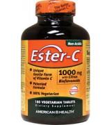 American Health 酯化維他命C (1000mg 柑橘生物類黃酮 鈣*180錠) - Ester-C