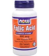 Now Foods Folic Acid  葉酸(800mcg*250錠)