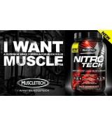 美國 Muscletech NITRO-TECH頂級低熱量分離式乳清蛋白 * 4磅 - 牛奶巧克力口味 - Performance Series
